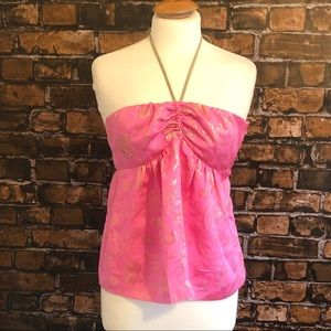 Cynthia Rowley Silk Halter Top